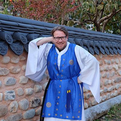 Wearing hanbok in Jeonju