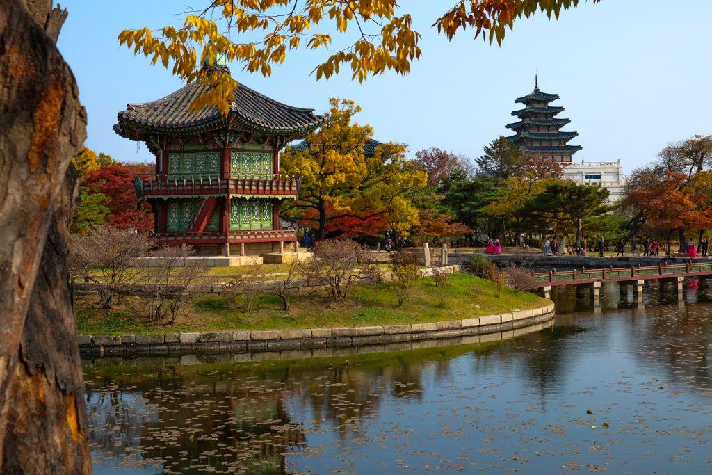 Hyangwonjeong Pavilion at Gyeongbokgun Palace