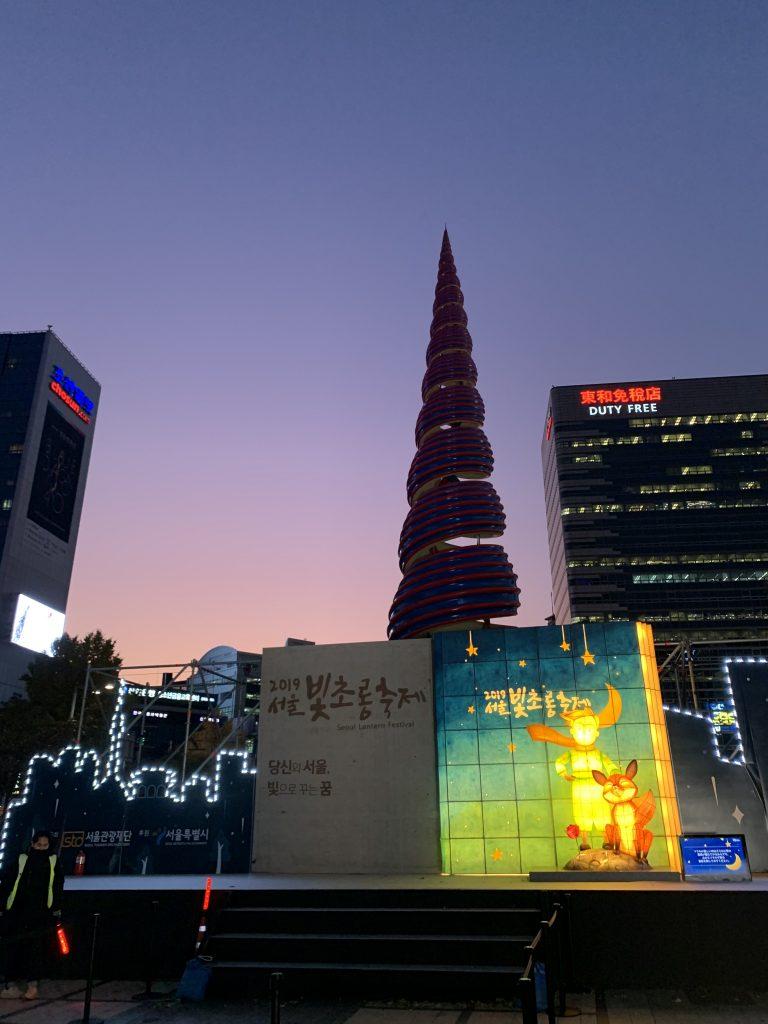 Cheonggyecheon Stream Night View