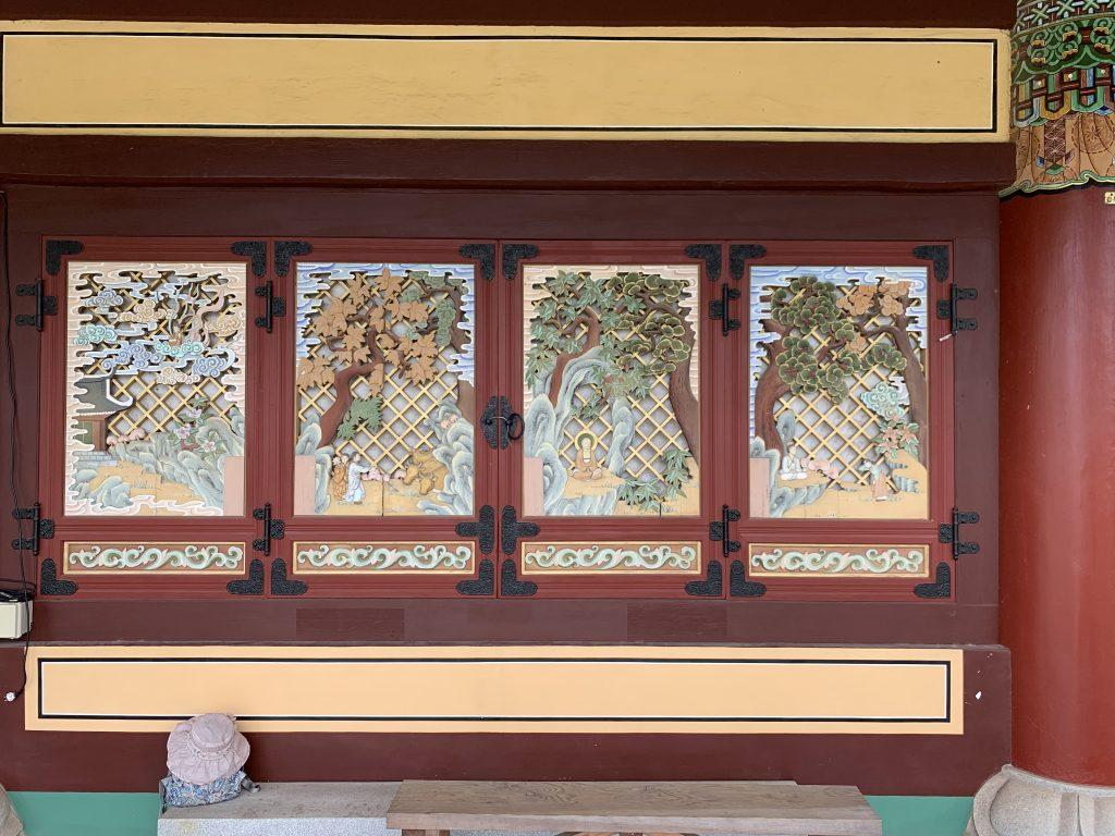 Yakcheonsa Temple Painted Window Panels