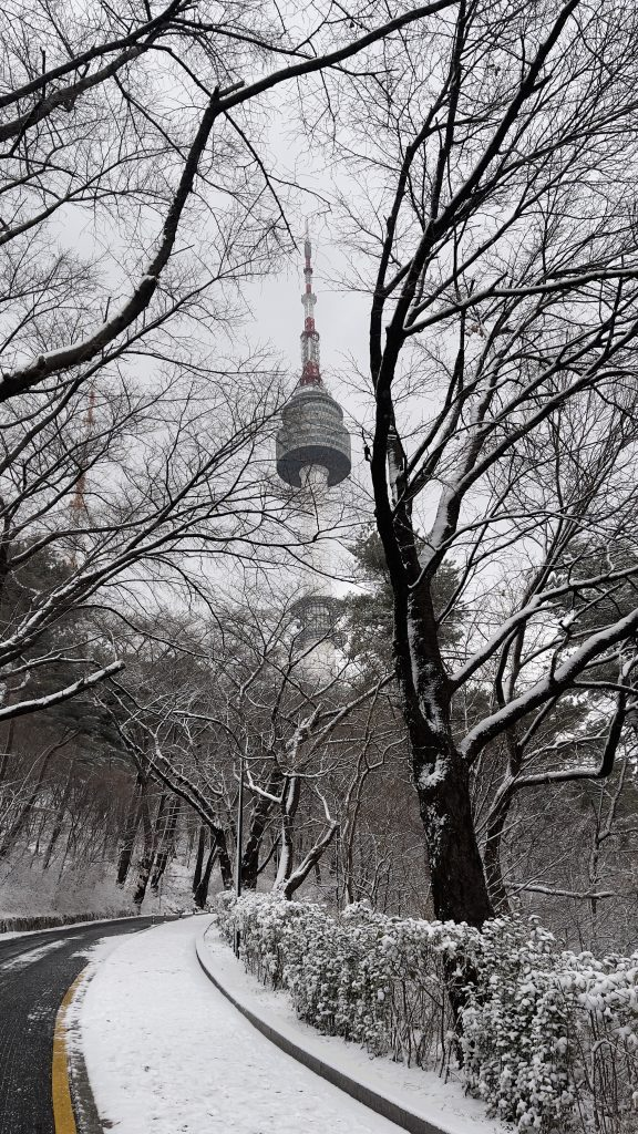 Namsan Tower in Snow