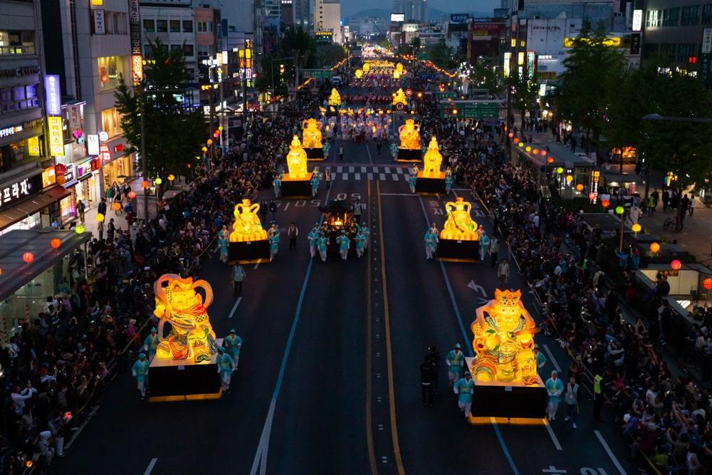 Grand Ornate Lantern during Parade