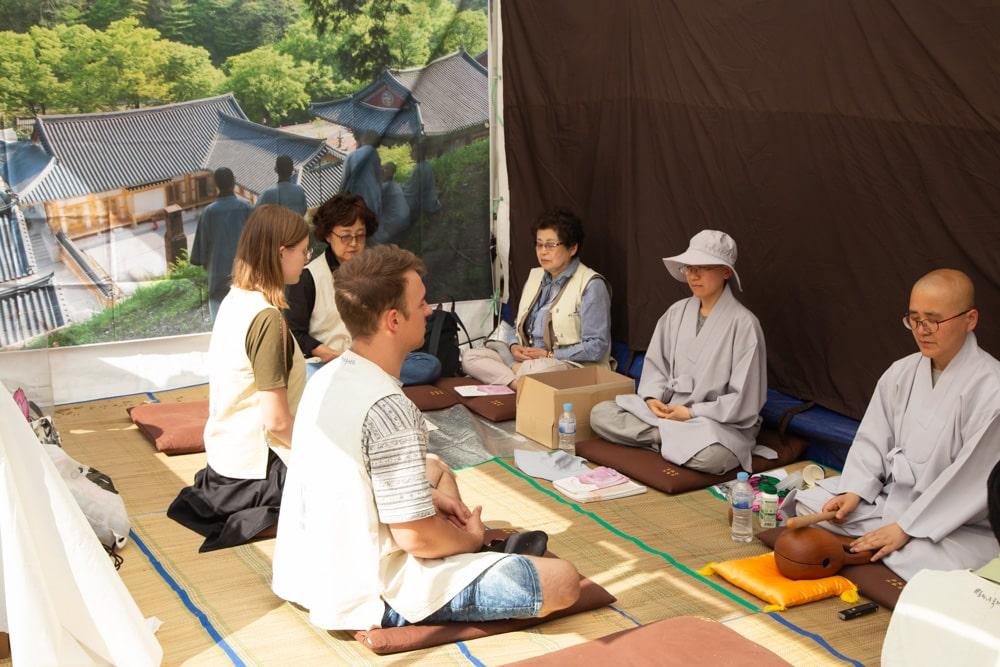 Talking to Buddhist Monks