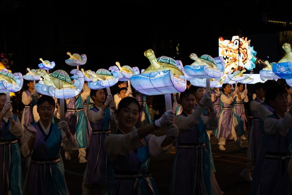 Colorful Lotus Lantern Parade