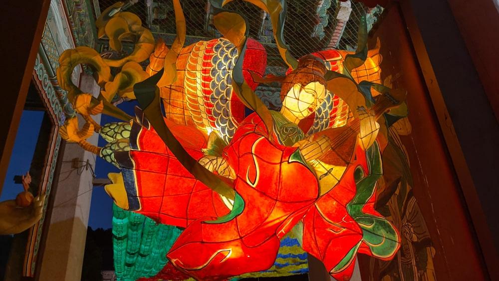 Great ornate Lantern at Bongeunsa Temple
