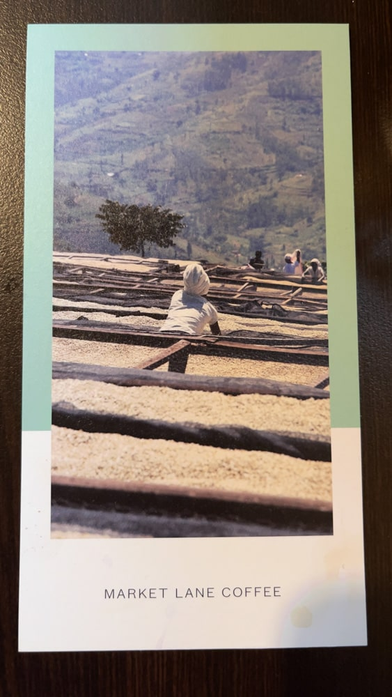 Every coffee producer has a card with it's story